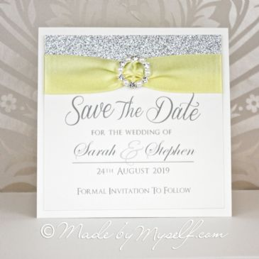 Elegance Glitter Save The Date